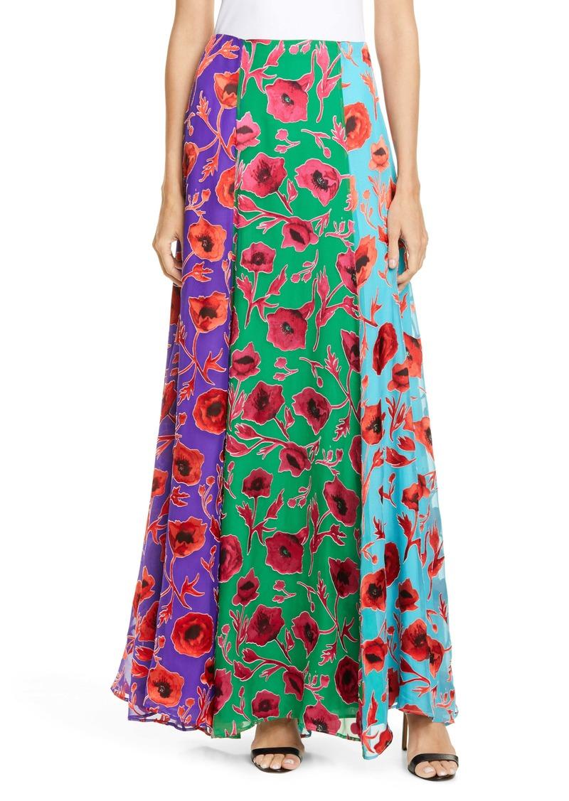Alice + Olivia Aquinnah Panneled Maxi Skirt