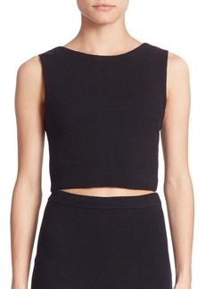 Alice + Olivia Aretha Cropped Top
