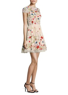 Alice + Olivia Ariel Embroidered Dress