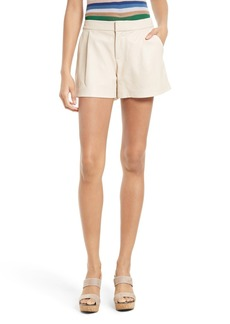 Alice + Olivia Arosa Leather Shorts