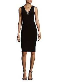 Alice + Olivia Asha V-Neck Lace Bodycon Dress