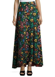 Alice + Olivia Athena High-Low Floral Maxi Skirt
