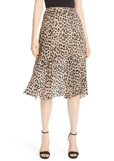 Alice + Olivia Athena Leopard Spot Skirt