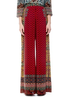 Alice + Olivia Athena Pattern Mix Wide Leg Pants