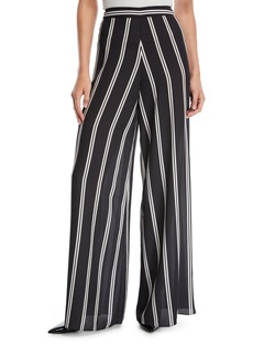 Alice + Olivia Athena Striped Wide-Leg Pants