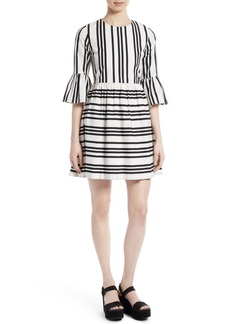 Alice + Olivia Augusta Ruffle Sleeve Stripe Dress