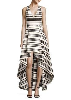Alice + Olivia Aveena Asymmetrical Gown