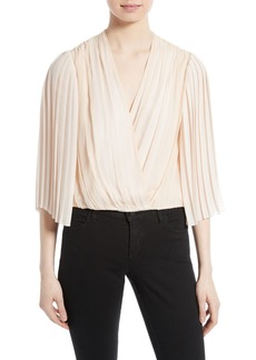 Alice + Olivia Axel Faux Wrap Top