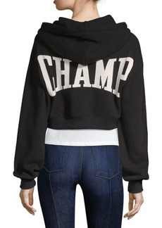 Alice + Olivia Barron Cropped Hoodie