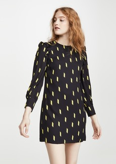 alice + olivia Beatrix Puff Sleeve Shift Dress