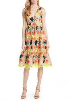 Alice + Olivia Becca Hummingbird Dress
