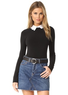 alice + olivia Becker Optional Collar Bodysuit