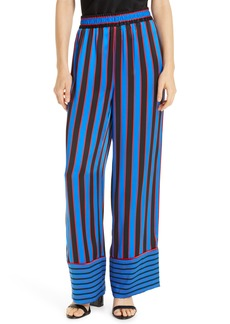 Alice + Olivia Benny Stripe Silk Pajama Pants
