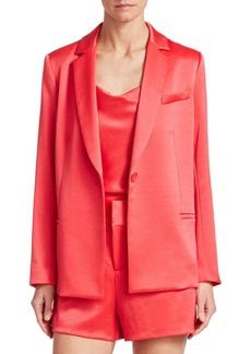 Alice + Olivia Bergen Button-Front Blazer