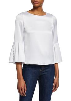 Alice + Olivia Bernice Bell-Sleeve Top
