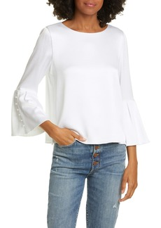 Alice + Olivia Bernice Bell Sleeve Top