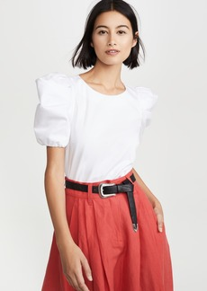 alice + olivia Bernice Gathered Sleeve Top