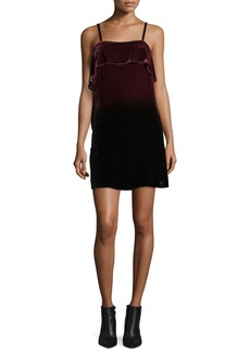 Alice + Olivia Bess Ombre Velvet Sleeveless Slip Dress