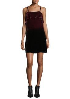 Alice + Olivia Bess Ombre Velvet Sleeveless Slip Dress