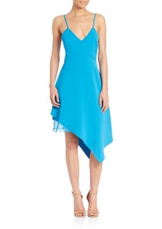 Alice + Olivia Beth Asymmetrical Double Layered Dress