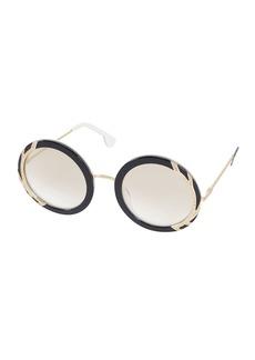 Alice + Olivia Beverly Round Swarovski® Sunglasses