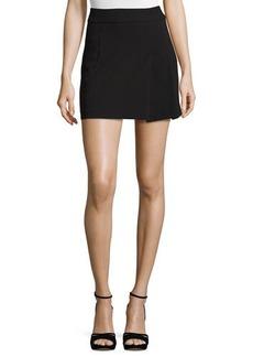 Alice + Olivia Bianka Side-Pleat Miniskirt