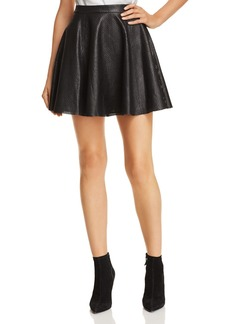 Alice + Olivia Blaise Leather Mini Skirt