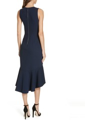 Alice + Olivia Blakesley Split Front Fit & Flare Dress