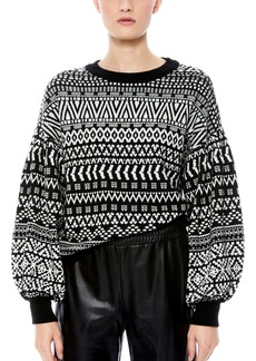 Alice + Olivia Blouson Sleeve Sweater