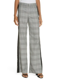 Alice + Olivia Bo Side Panel Plaid Flare Leg Pants