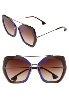 Alice + Olivia Bowery 55mm Geometric Sunglasses