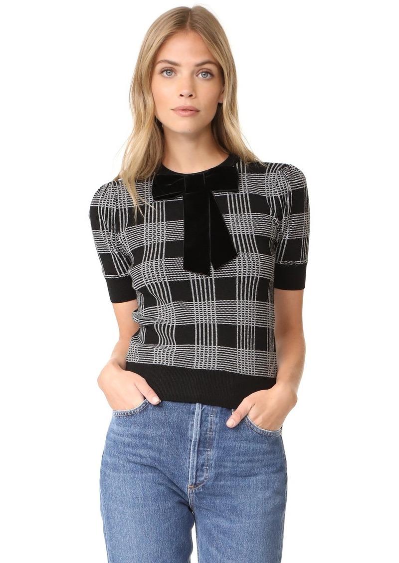 Alice   Olivia alice   olivia Brady Plaid Short Sleeve Sweater ...