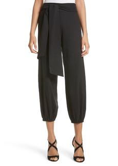 Alice + Olivia Braxton Crop Linen Blend Pants