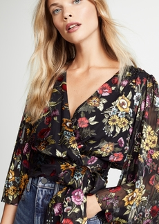 alice + olivia Bray Wrap Blouse