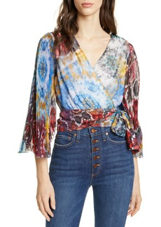 Alice + Olivia Bray Wrap Top