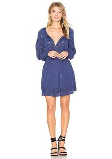 Alice + Olivia Brenda Mini Dress in Blue. - size 0 (also in 2,4,6)