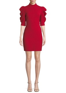 Alice + Olivia Brenna Puff-Sleeve Mini Dress