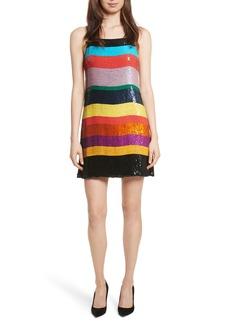 Alice + Olivia Bridget Striped Sequin Slipdress