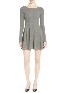 Alice + Olivia 'Brinley' Long Sleeve Mini Dress