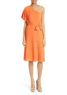 Alice + Olivia Bristol One-Shoulder Dress