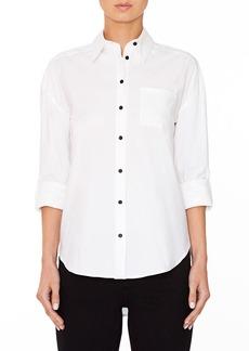 Alice + Olivia 'Brita - Always Right' Embroidered Boyfriend Shirt