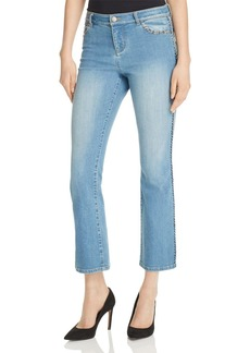 Alice + Olivia Bryce Cropped Flare Jeans in Faded Denim