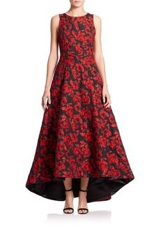 Alice + Olivia Brylee Floral Hi-Lo Gown