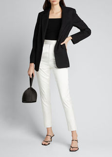 Alice + Olivia Brynn Square-Neck Fitted Pullover
