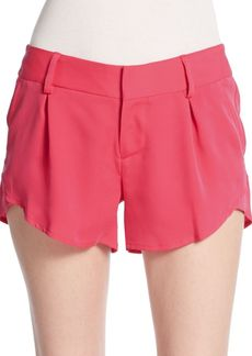 Alice + Olivia Butterfly Pleated Shorts