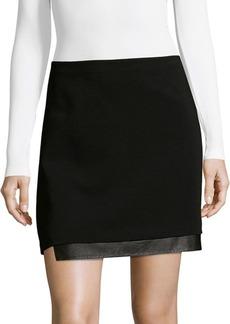 Alice + Olivia by Stacey Bendet Darcie Fur-Trimmed Mini Skirt