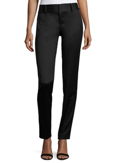 Alice + Olivia Cadence Zip-Hem Straight-Leg Trousers