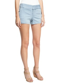 Alice + Olivia Cady Clean-Pocket Striped Shorts