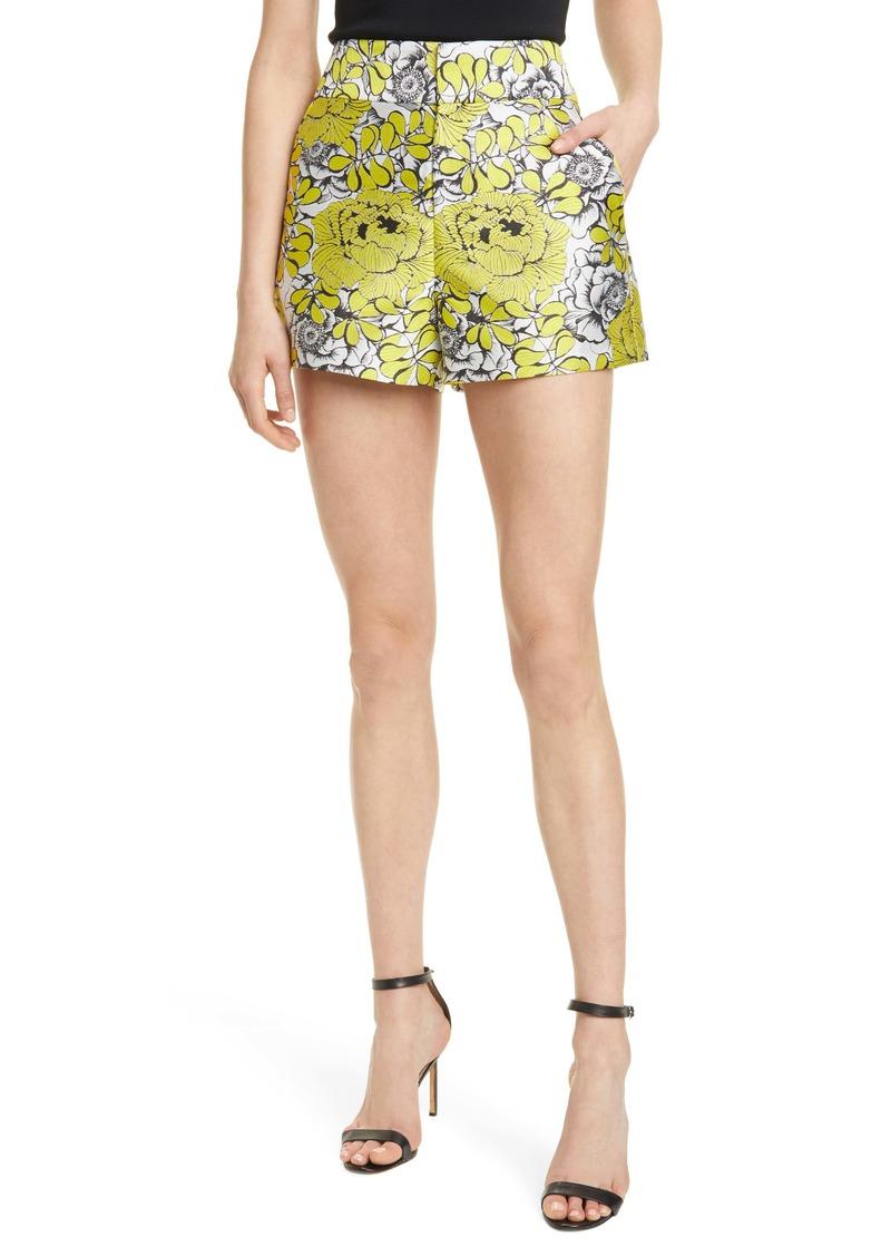 Alice + Olivia Cady Floral High Waist Shorts