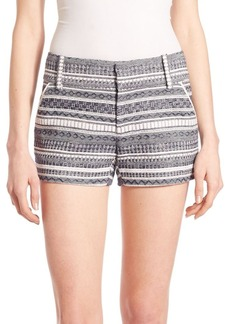 Alice + Olivia Cady Printed Stripe Shorts